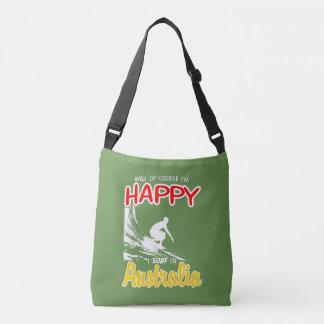 Happy Surfer AUSTRALIA (Wht) Crossbody Bag
