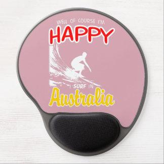 Happy Surfer AUSTRALIA (Wht) Gel Mouse Pad