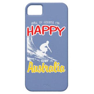 Happy Surfer AUSTRALIA (Wht) iPhone SE/5/5s Case