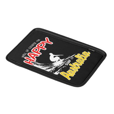 Beach Themed Happy Surfer AUSTRALIA (Wht) MacBook Air Sleeve