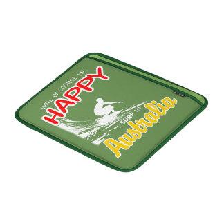 Happy Surfer AUSTRALIA (Wht) MacBook Sleeve