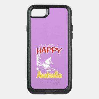 Happy Surfer AUSTRALIA (Wht) OtterBox Commuter iPhone 7 Case
