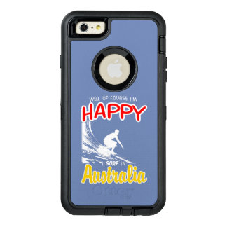 Happy Surfer AUSTRALIA (Wht) OtterBox Defender iPhone Case