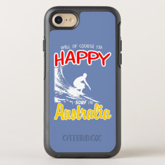 Happy Surfer AUSTRALIA (Wht) OtterBox Symmetry iPhone 7 Case