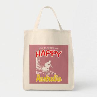 Happy Surfer AUSTRALIA (Wht) Tote Bag