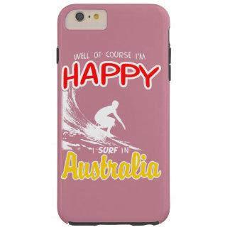 Happy Surfer AUSTRALIA (Wht) Tough iPhone 6 Plus Case