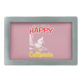 Happy Surfer CALIFORNIA (Wht) Belt Buckle