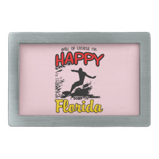Happy Surfer FLORIDA (blk) Belt Buckle