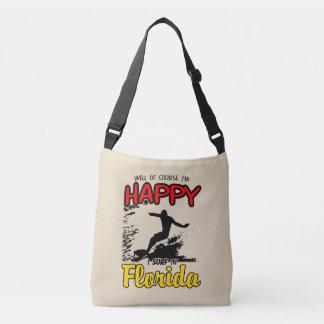 Happy Surfer FLORIDA (blk) Crossbody Bag