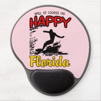 Happy Surfer FLORIDA (blk) Gel Mouse Pad