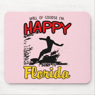 Happy Surfer FLORIDA (blk) Mouse Pad
