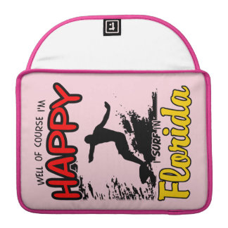Happy Surfer FLORIDA (blk) Sleeve For MacBook Pro