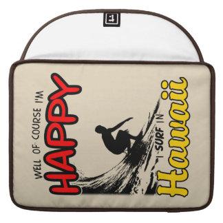 Happy Surfer HAWAII (blk) Sleeve For MacBooks