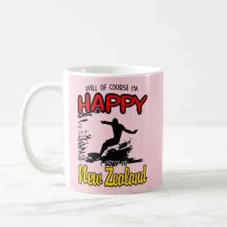 Happy Surfer NEW ZEALAND (Blk) Coffee Mug