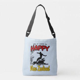 Happy Surfer NEW ZEALAND (Blk) Crossbody Bag