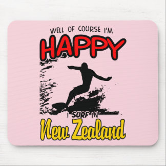 Happy Surfer NEW ZEALAND (Blk) Mouse Pad