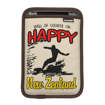 Beach Themed Happy Surfer NEW ZEALAND (Blk) Sleeve For iPad Mini