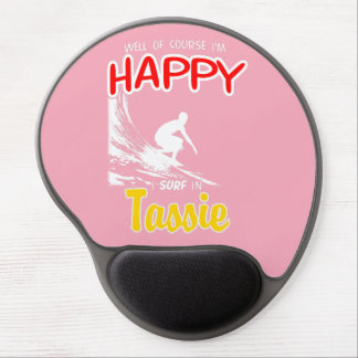 Happy Surfer TASSIE (Wht) Gel Mouse Pad