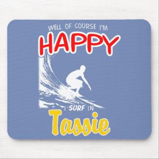 Happy Surfer TASSIE (Wht) Mouse Pad