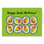 Happy Sushi Birthday Card