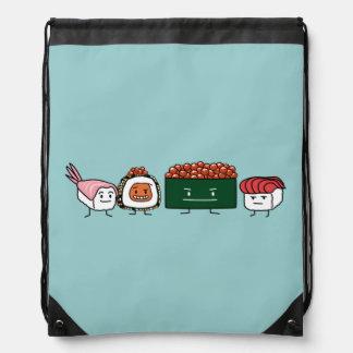 Happy Sushi Brothers Drawstring Bag
