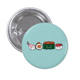 Happy Sushi Brothers Pinback Button