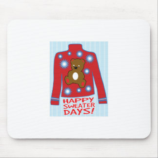 Happy Sweater Day Mouse Pad