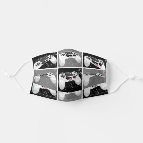 Happy  Sweaty Video Game Controller Cloth Face Mask