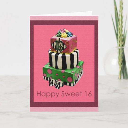 Happy Sweet 16 Birthday Card Zazzle