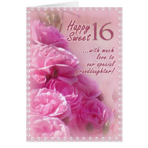 Happy Sweet 16 Birthday Card Zazzle Happy Birthday Sweet 16 Wishes