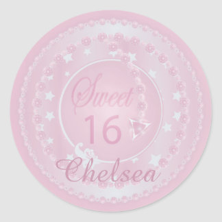 Happy Sweet 16 Birthday Classic Round Sticker