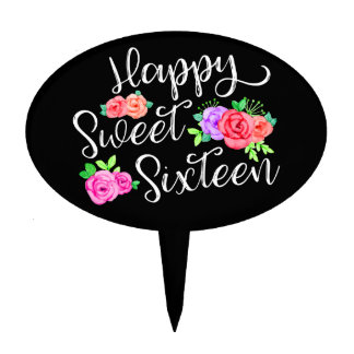 rose happy cake toppers zazzle
