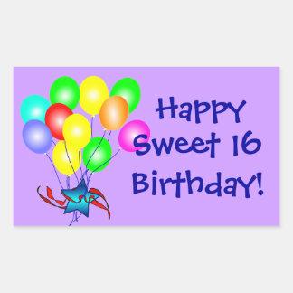 Happy Sweet 16 Birthday Stickers