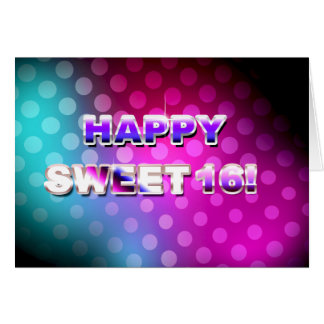 Happy Sweet 16 Colorful Card