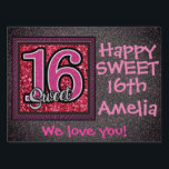 "Happy Sweet 16th Birthday Sign #2<br><div class=""desc"">Double sided! All that you need to do is change the name.</div>"