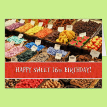 Happy Sweet 16th Sixteenth Birthday Assorted Color Card