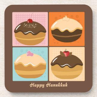 Happy Sweet Hanukkah Drink Coaster