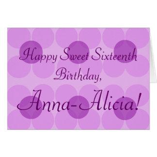 """Happy Sweet Sixteenth Birthday ____!"" Card"