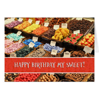Happy Sweetest Day Birthday Assorted Colorful Cand Card