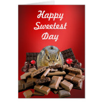 Happy Sweetest Day Chipmunk Card
