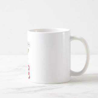 Happy Sweetest Day, lady in red on a cake. Coffee Mug