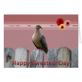 Happy Sweetest Day Love Dove Card