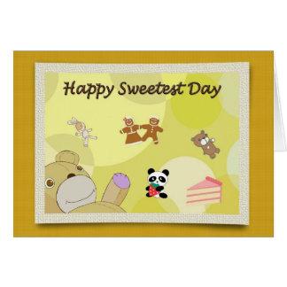 Happy Sweetest Day Teddy Bears Card