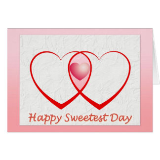Happy Sweetest Day Two Hearts Card