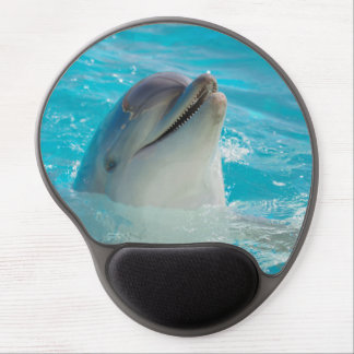 Happy Swimming Dolphin Gel Mouse Pad