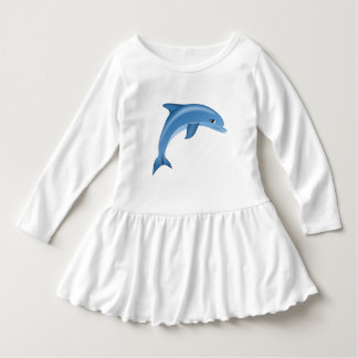 Happy Swimming Dolphin Toddler Dress