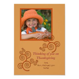 Happy Swirls Fall Photo Card