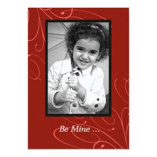 Happy Swirls Valentine's Day Photo Card