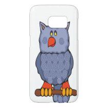 Happy Swirly Owl on White Samsung Galaxy S7 Case