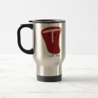 Happy T-bone steak Travel Mug